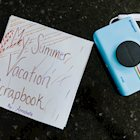 DIY Summer Vacation Scrapbook