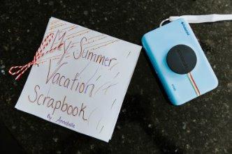 DIY Summer Vacation Scrapbook