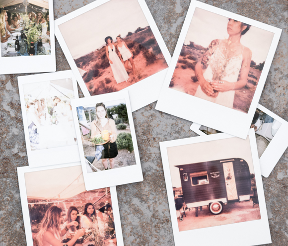 collage of Polaroid photos