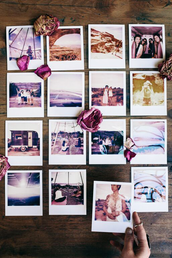 collage of various Polaroid photos