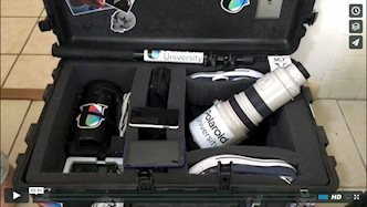 Camera luggage bag with supplies