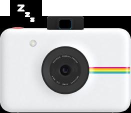 Polaroid Snap is sleeping