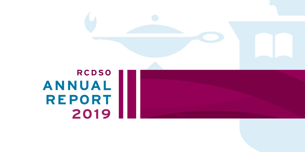 Cover of RCDSO Annual Report 2019