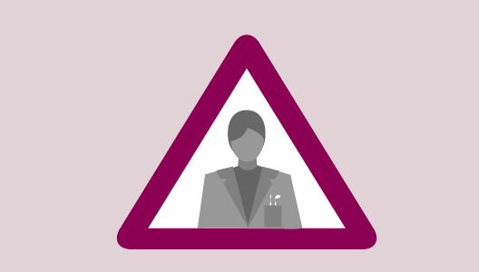 Illustration: A woman's profile in a triangle