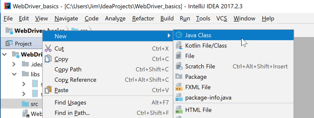 Getting Started with WebDriver in Java Using IntelliJ on Windows