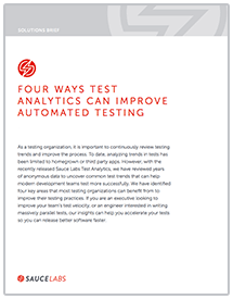 Discover data insights that can help you accelerate your tests.
