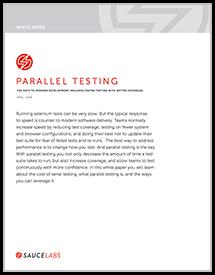 Parallel Testing WhitePaper