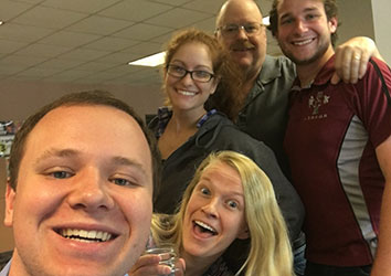 Day in the Life of a Schneider Operations Career - Associates taking a selfie