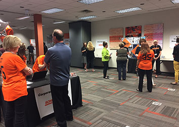 Schneider Human Resource team hosts internal career fairs