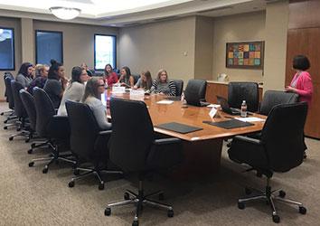 Schneider Women's Network Lunch with Interns