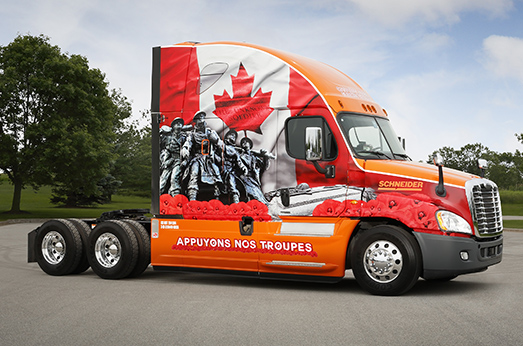 2015 Canadian Ride of Pride Truck.