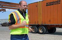 Truck Driver Running