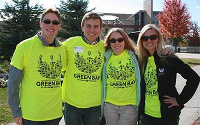 Vanya with UW-Green Bay Alumni