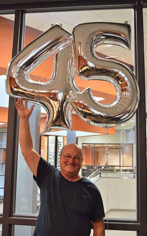 Bob Wyatt celebrating 45 years with Schneider