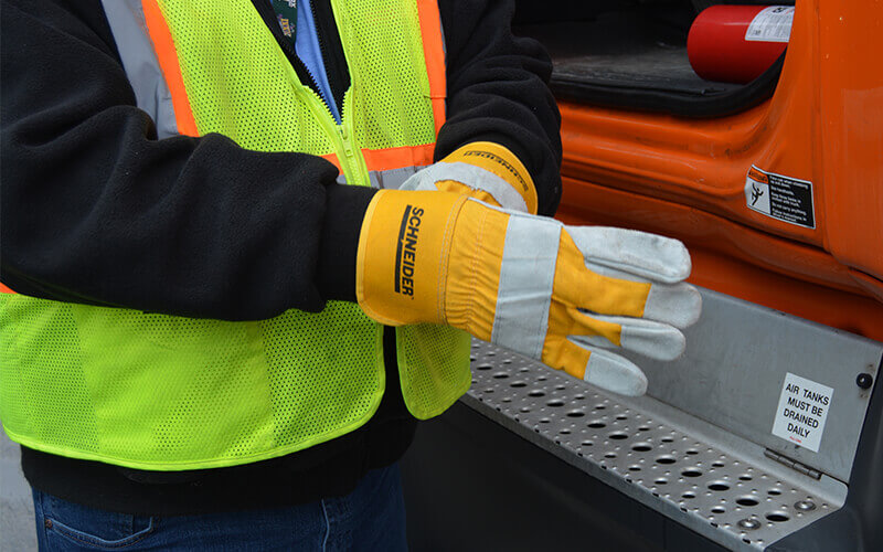 canvas gloves for truck drivers