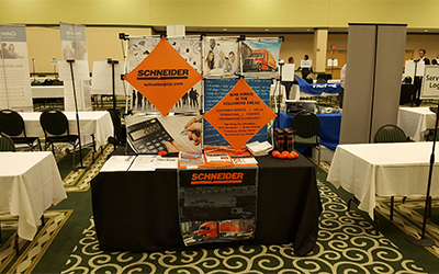Schneider Career Fair Booth