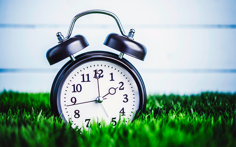 Truck driver Daylight Saving Time spring forward clock