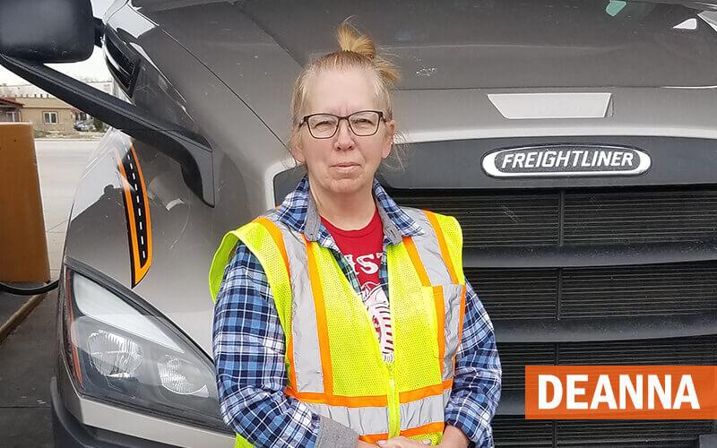 Schneider female driver, Deanna