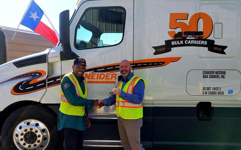 Ed Ennis Schneider Tanker Driver