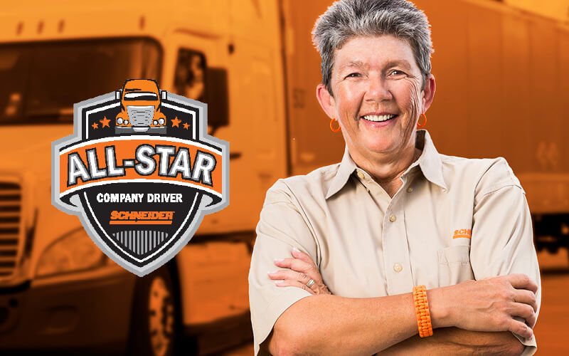 What All-Star driver Ruby Langkau enjoys most about her Dedicated driving job at Schneider is being challenged every day.
