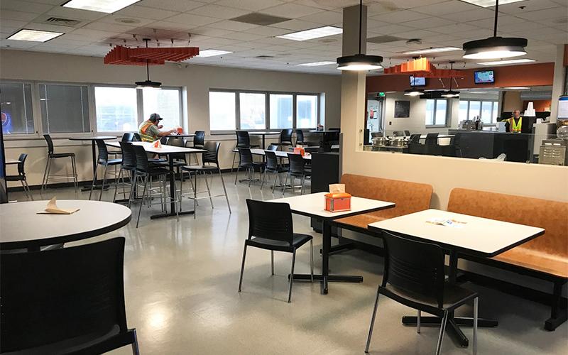 Gary facility cafeteria