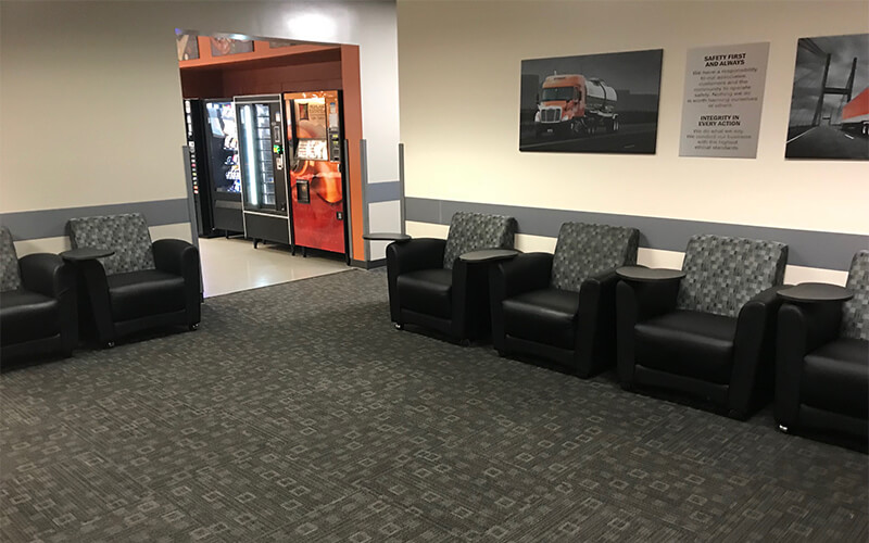 Gary facility driver lounge