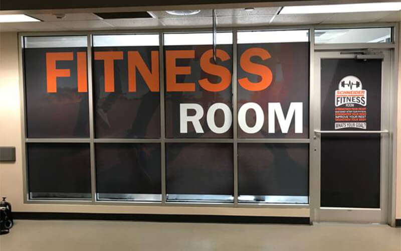 Gary facility fitness room