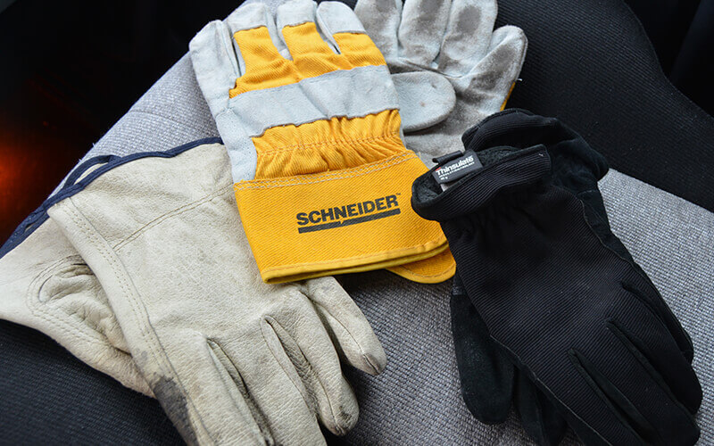 Three pairs of truck driver gloves