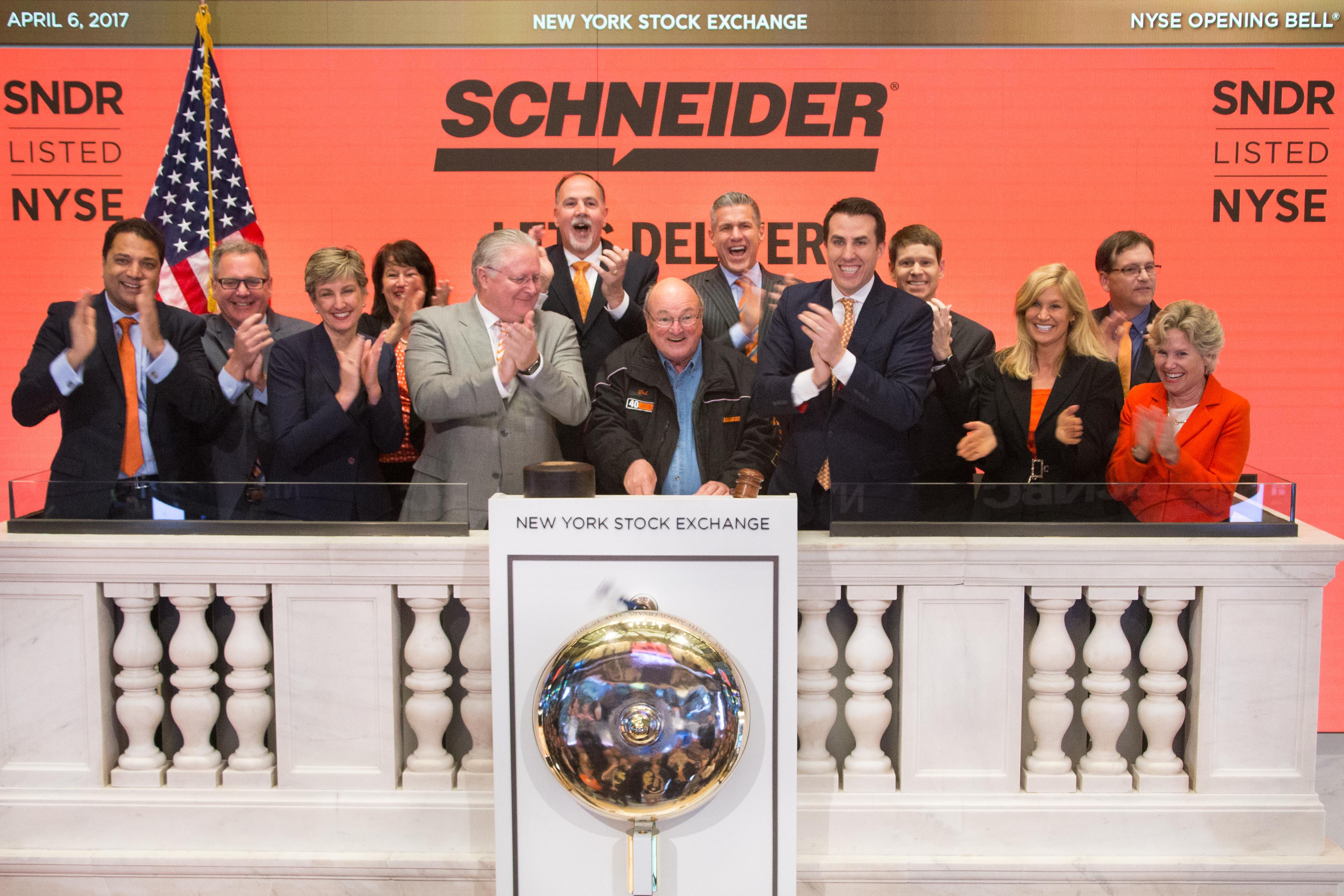 Schneider Driver Ringing Opening Bell