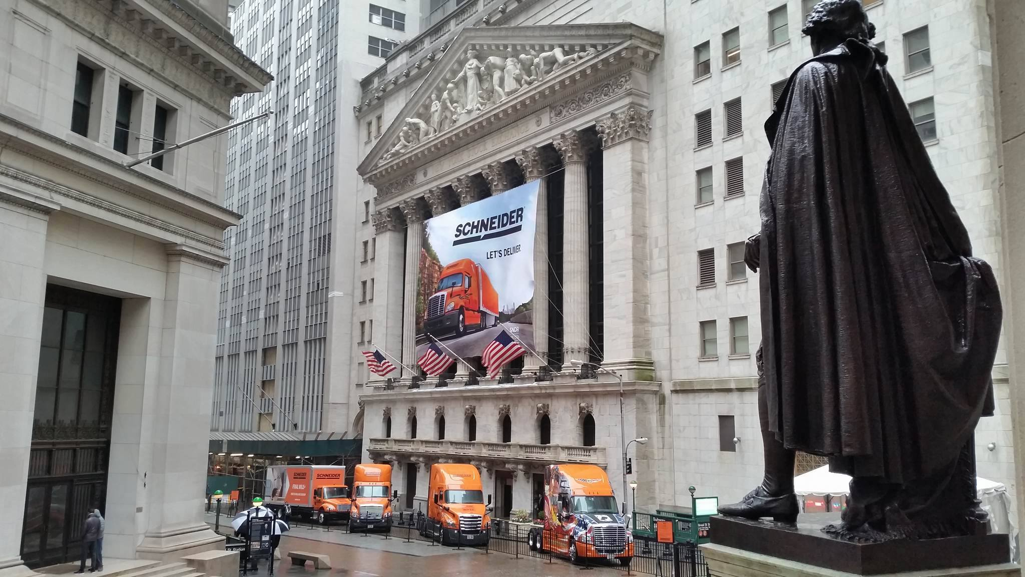 Schneider Trucks Outside NYSE
