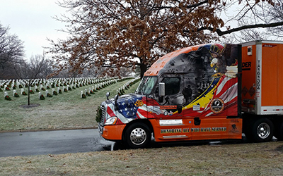2016 Ride of Pride truck at Wreaths Across America