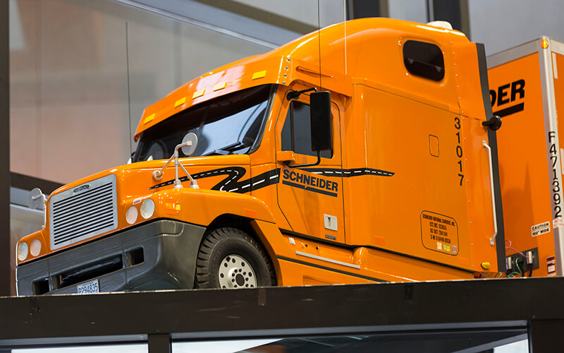 Schneider Model Truck Close Up