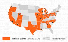 Map of Schneider Hiring Events