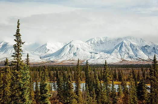 Train from Whittier to Denali, Alaska