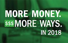 More Money. More Ways. in 2018