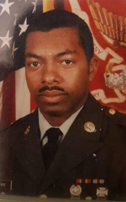 Randy Twine in Army uniform in 1981