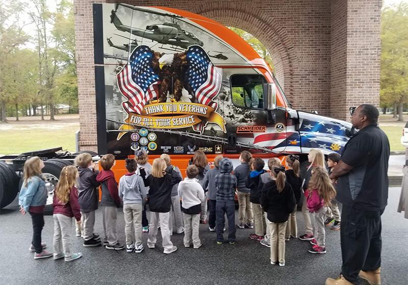 2014 Schneider Ride of Pride truck