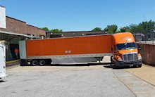 Schneider Truck Backing Up
