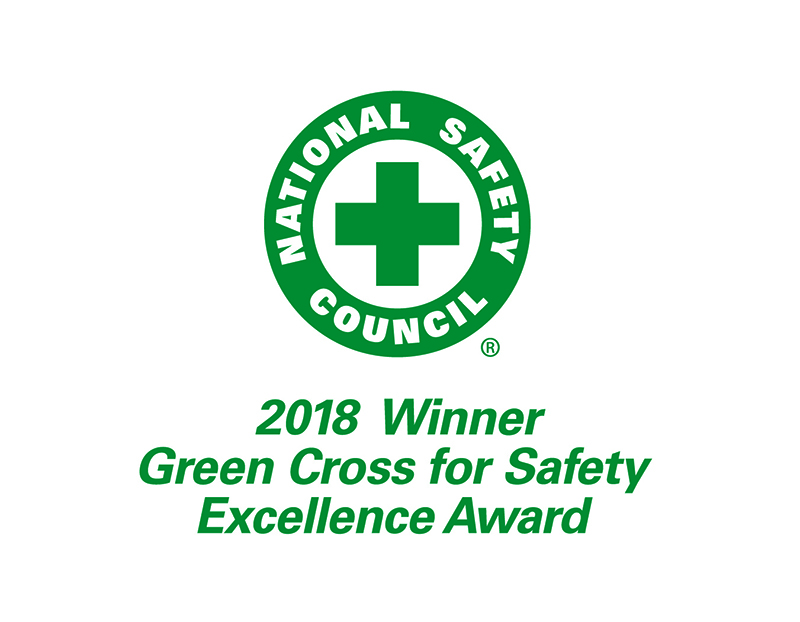 Schneider 2018 Green Cross for Safety Excellence Award