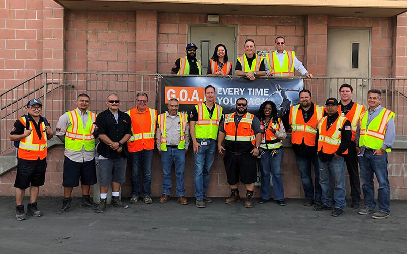 Schneider drivers pose for picture during Schneider Driver Appreciation Days
