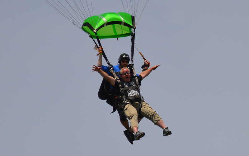 Schneider Veteran and driver Chip skydiving to Support HOOAH