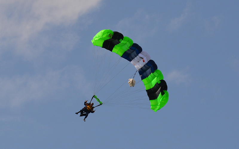 Schneider Veteran Jay Skydives to Support Hooah