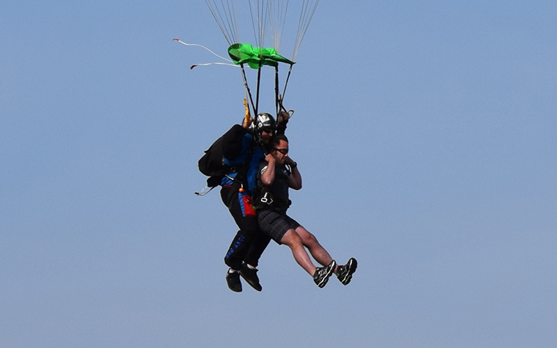 Schneider Veteran Josh Skydives to Support Hooah
