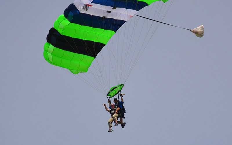 Schneider Veteran Chip Skydives to Support HOOAH