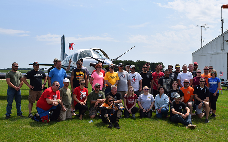 Veterans Skydive to Support HOOAH