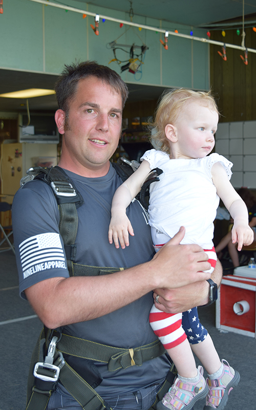 Schneider Veteran Josh After Skydive to Support HOOAH