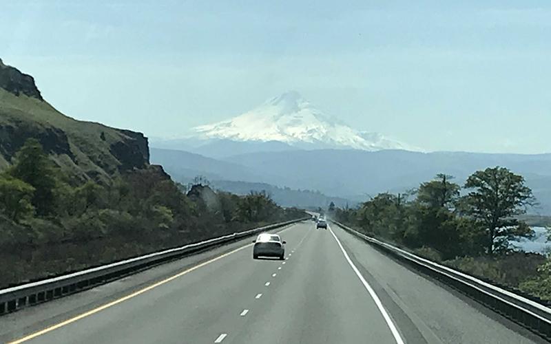 Schneider VP Ride Along Photo of Open Highway