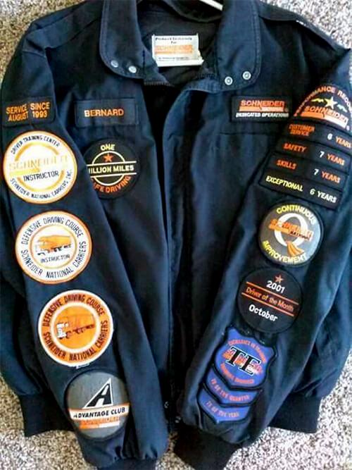 Schneider jacket with patches
