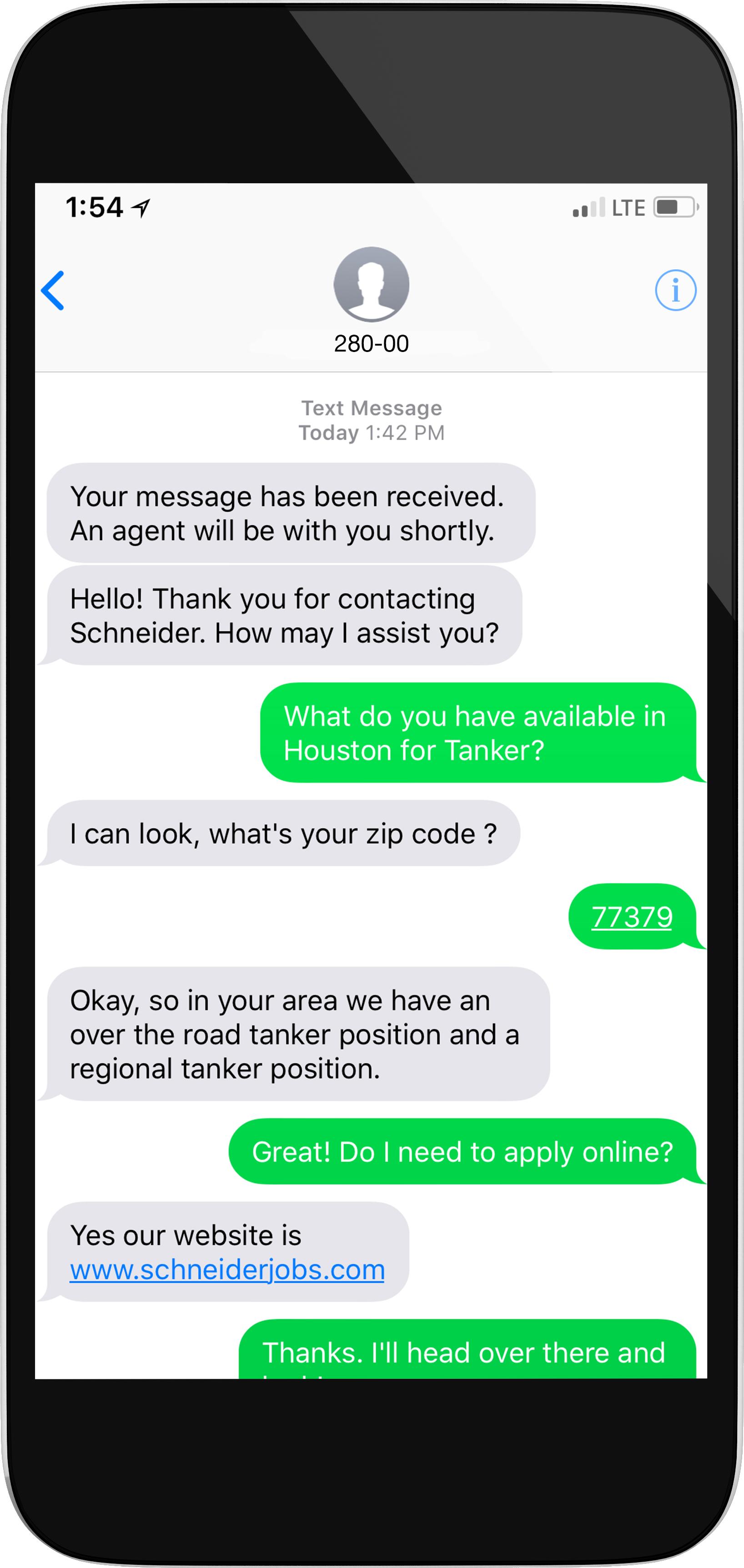 Schneider text-to-chat