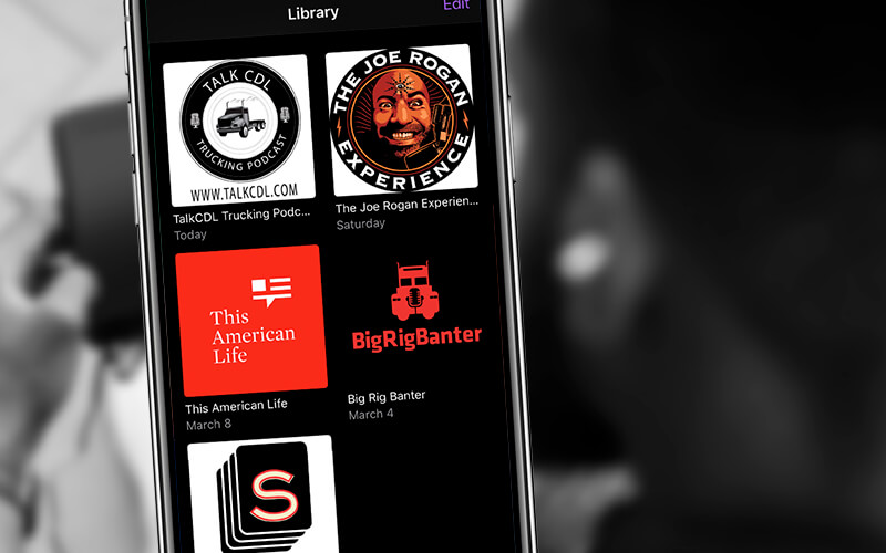 Top podcasts for truck drivers and their icons